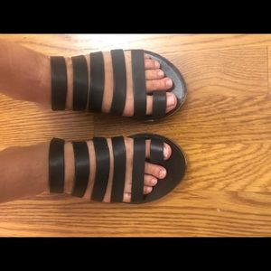 Black strappy sandals purchased from shopbop